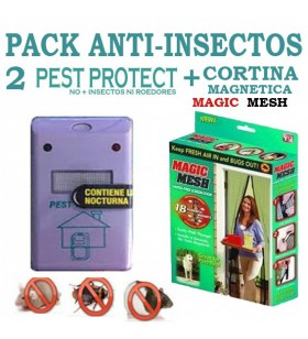 Pack 2 Pest Protect Reject + Cortina Magnetica Magic Mesh