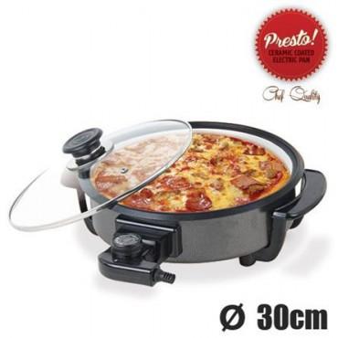 Pizza Pan Cerámica Sartén Eléctrica 30 cm*