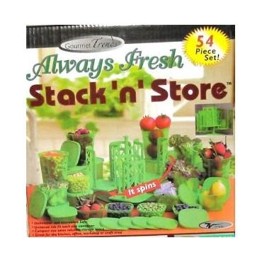 Set 54 Envases Always Fresh Stack n Store