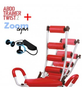 Banco Abdominales Abdo Trainer Twister + Zoom Gym