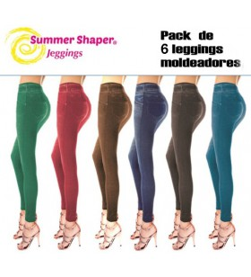 Slim Jeans Summer Shaper, Pack de 3 leggings moldeadores