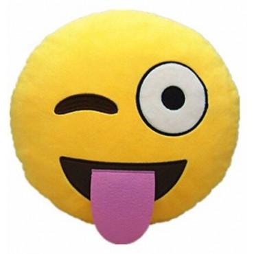 Cojín emoticono Emocionado