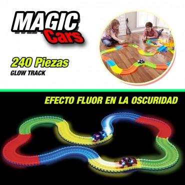 Magic Cars Circuito de carreras + 3 Coches