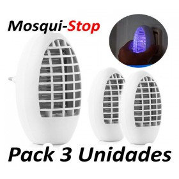 MosquiStop Anti-insectosPack 3 MosquiStop Lampara cazamosquitos eléctrica
