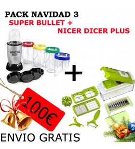 Super Magic Bullet + Nicer Dicer Plus (Pack Navidad 3)