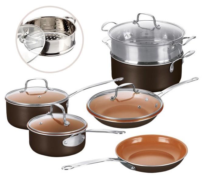 Teletienda bater a de cocina cazuela copper olla copper - Cazuelas de cobre ...