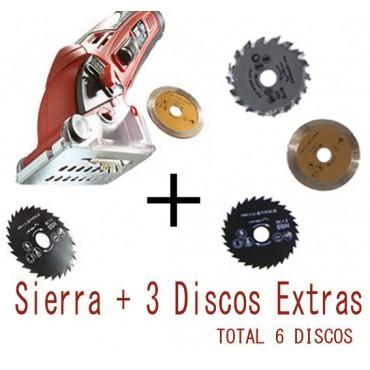Mini Rotor Sierra Circular + 3 Discos Extra