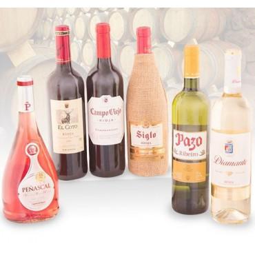 Vinos de Rioja - Lote Vinos Españoles + Decantador y Termómetro