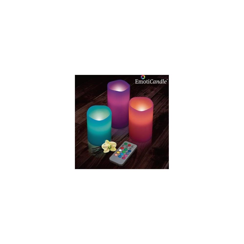 Velas Led Multicolor (Pack 3)