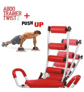 Banco Abdominales Abdo Trainer Twister + Push Up Pro
