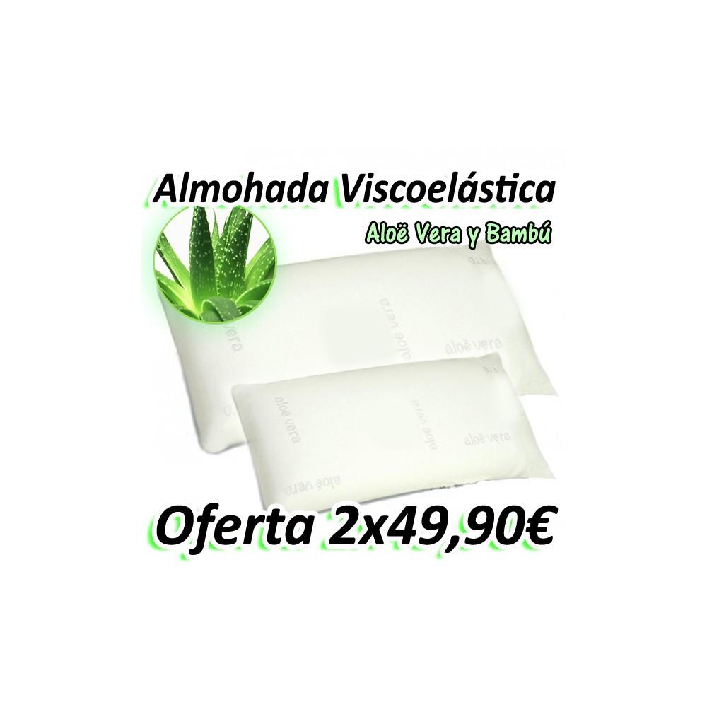 Almohada Viscoelástica Aloe Vera y Bambú