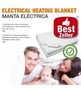Manta Eléctrica Doble Best Zeller 160 x 140