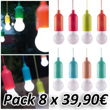 Bombilla Handy Led Colores (Pack 8 Unidades)