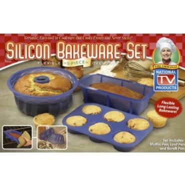 Molde para Pan y Pasteles Silicon Bakeware Set